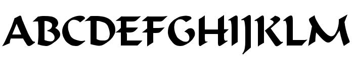 Calligrapher Regular Font UPPERCASE