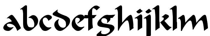Calligrapher Regular Font LOWERCASE