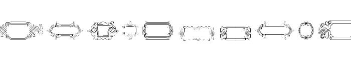 CalligraphicFramesSoft Font UPPERCASE