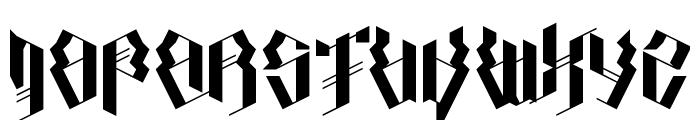 Calligraphy Aquiver Regular Font UPPERCASE