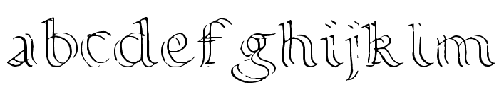 Calligraphy Double Pencil Font LOWERCASE