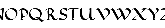 Calligraphy Pen Font UPPERCASE