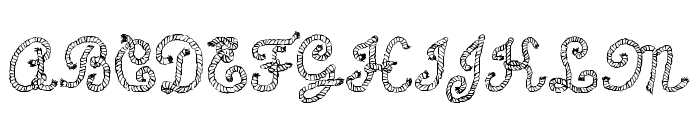 Calligraphy Rope Font UPPERCASE