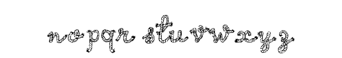 Calligraphy Rope Font LOWERCASE