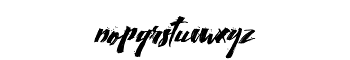 Calligraphy wet Font LOWERCASE