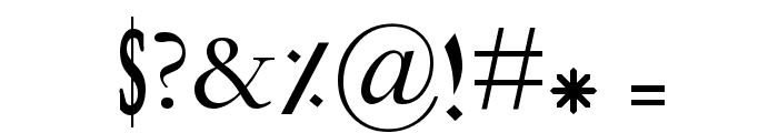 Calligraphy Font OTHER CHARS