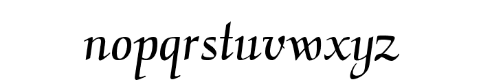 CalligraphyFLF Font LOWERCASE