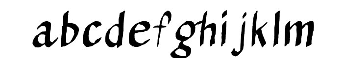 Calligraserif Font LOWERCASE