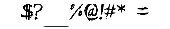 Calligtastrophe Font OTHER CHARS