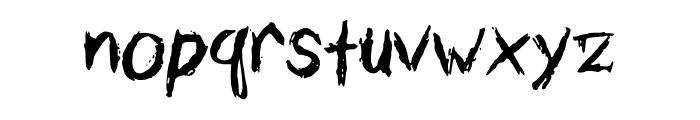 Calligtastrophe Font LOWERCASE