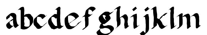 Calligula Font LOWERCASE