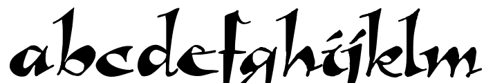 Callimundial Font LOWERCASE