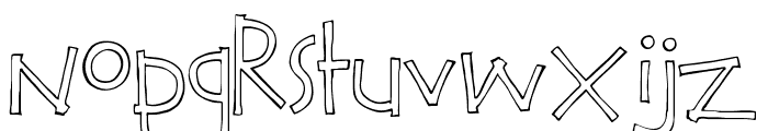 Calvin and Hobbes Outline Font UPPERCASE