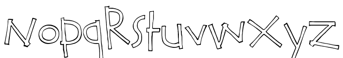 Calvin and Hobbes Outline Font LOWERCASE