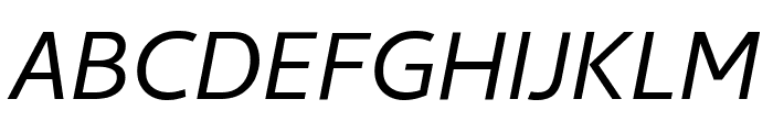Cambay Italic Font UPPERCASE