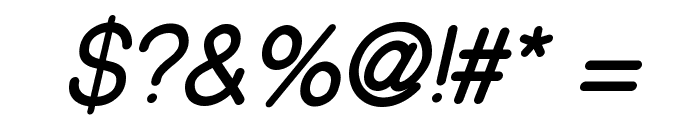 CameronSansBoldOblique Font OTHER CHARS