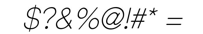CameronSansLightOblique Font OTHER CHARS