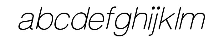 CameronSansLightOblique Font LOWERCASE