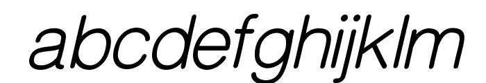 CameronSansOblique Font LOWERCASE
