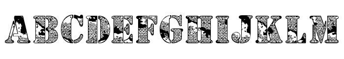 Camoufage Desert Font UPPERCASE
