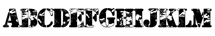 Camouflage Urban Font UPPERCASE