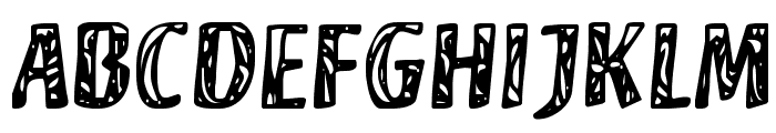 Camouflage Font UPPERCASE