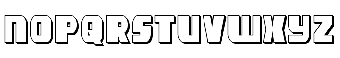 Camp Justice 3D Font LOWERCASE
