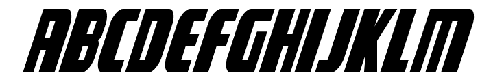 Camp Justice Condensed Italic Font UPPERCASE