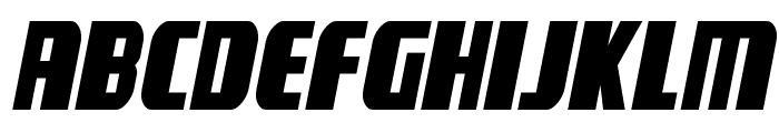 Camp Justice Semi-Italic Font UPPERCASE