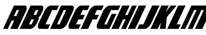 Camp Justice Super-Italic Font UPPERCASE