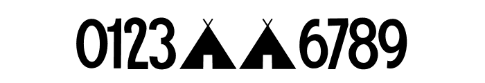 Camping Holiday DEMO Regular Font OTHER CHARS