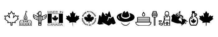 Canada Font UPPERCASE