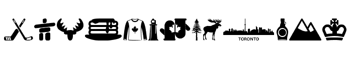 Canada Font LOWERCASE