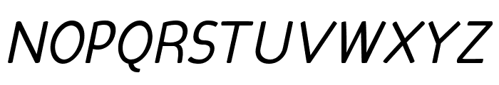 Candela Book Italic Font UPPERCASE