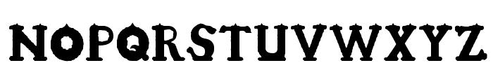 Candle3d-black Font UPPERCASE