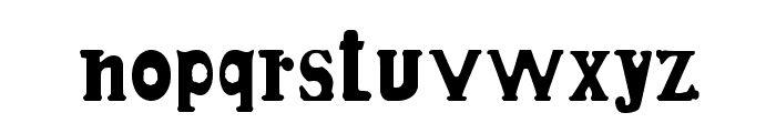 Candle3d-black Font LOWERCASE