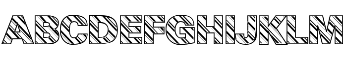 Candy Cane Normal Font UPPERCASE