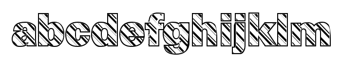 Candy Cane Normal Font LOWERCASE