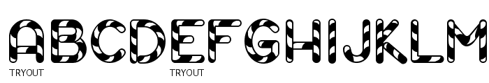 Candy Cane Tryout Font UPPERCASE