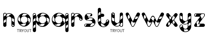 Candy Cane Tryout Font LOWERCASE