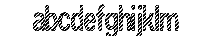 Candy Stripe [BRK] Font LOWERCASE
