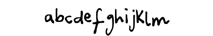 Canidae Hand Font LOWERCASE