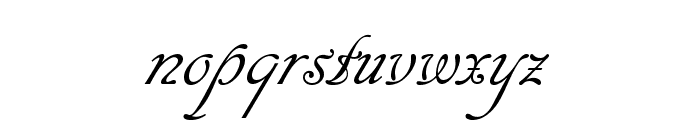 Cansellarist Font LOWERCASE