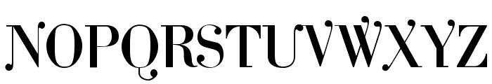 Cantabile Font UPPERCASE