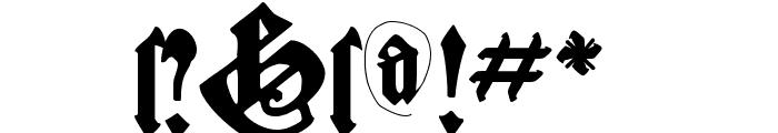 CantaraGotica Font OTHER CHARS