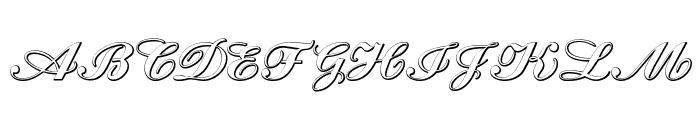 Cantate Beveled Font UPPERCASE