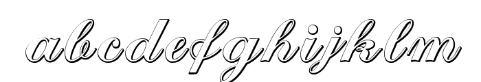 Cantate Beveled Font LOWERCASE