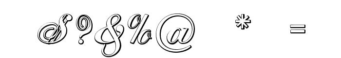 CantateBeveled Font OTHER CHARS