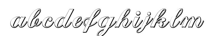 CantateBeveled Font LOWERCASE