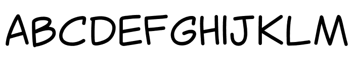 Canted Comic Font UPPERCASE